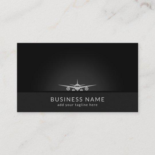 Cool plane silhouette landing on tarmac aviation business card cool plane silhouette landing on tarmac aviation business card colourmoves