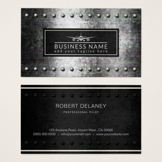 Cool plane silhouette rough steel rivets aviation business card cool plane silhouette rough steel rivets aviation business card colourmoves