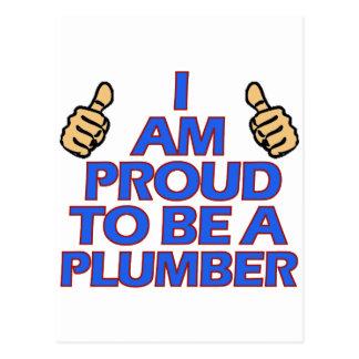 cool plumber designs postcard