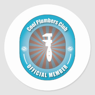 Cool Plumbers Club Classic Round Sticker