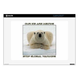 """cool POLAR BEAR AND GLOBAL WARMING designs 15"""" Laptop Skins"""