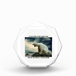 cool POLAR BEAR AND GLOBAL WARMING designs Acrylic Award
