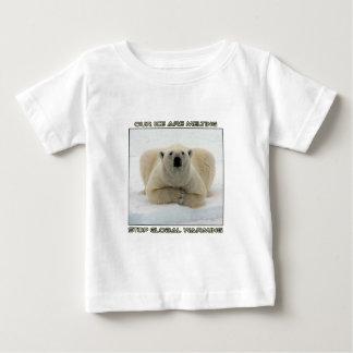 cool POLAR BEAR AND GLOBAL WARMING designs Baby T-Shirt