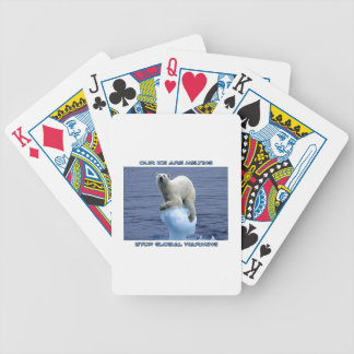 cool POLAR BEAR AND GLOBAL WARMING designs Bicycle Playing Cards