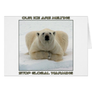 cool POLAR BEAR AND GLOBAL WARMING designs Card