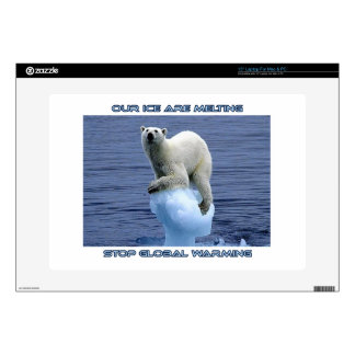 """cool POLAR BEAR AND GLOBAL WARMING designs Decal For 15"""" Laptop"""