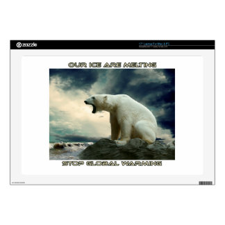 """cool POLAR BEAR AND GLOBAL WARMING designs Decals For 17"""" Laptops"""