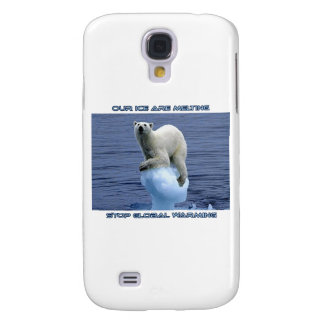 cool POLAR BEAR AND GLOBAL WARMING designs Galaxy S4 Cover