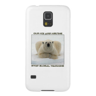 cool POLAR BEAR AND GLOBAL WARMING designs Galaxy S5 Case