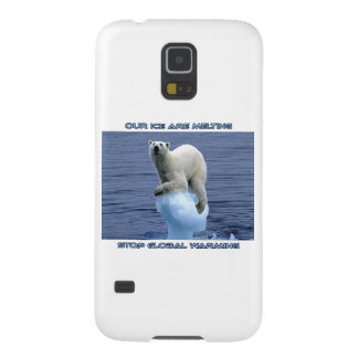 cool POLAR BEAR AND GLOBAL WARMING designs Galaxy S5 Cover