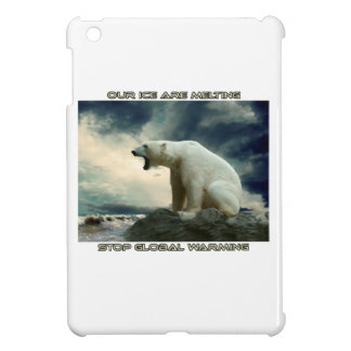 cool POLAR BEAR AND GLOBAL WARMING designs iPad Mini Cases