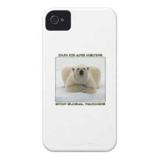 cool POLAR BEAR AND GLOBAL WARMING designs iPhone 4 Case