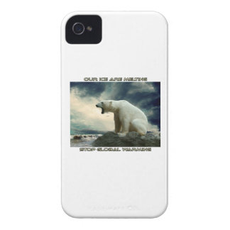 cool POLAR BEAR AND GLOBAL WARMING designs iPhone 4 Case-Mate Case