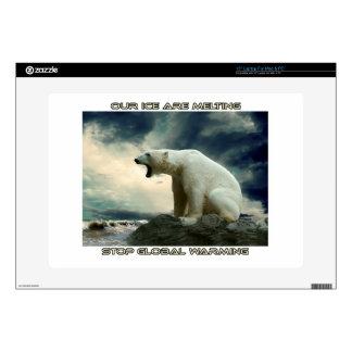 cool POLAR BEAR AND GLOBAL WARMING designs Laptop Decals