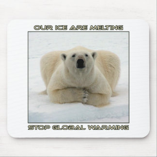 cool POLAR BEAR AND GLOBAL WARMING designs Mouse Pad