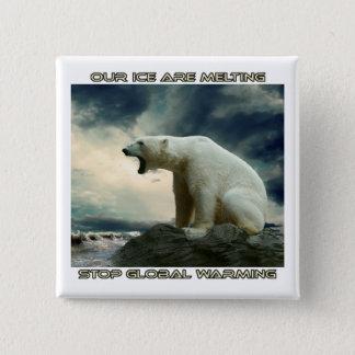 cool POLAR BEAR AND GLOBAL WARMING designs Pinback Button