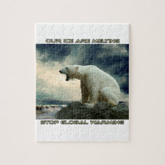 cool POLAR BEAR AND GLOBAL WARMING designs Puzzle