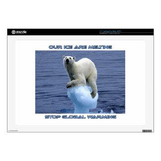 "cool POLAR BEAR AND GLOBAL WARMING designs Skin For 17"" Laptop"