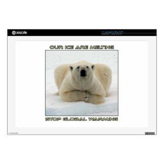 cool POLAR BEAR AND GLOBAL WARMING designs Skin For Laptop