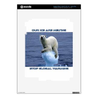cool POLAR BEAR AND GLOBAL WARMING designs Skins For iPad 3