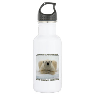 cool POLAR BEAR AND GLOBAL WARMING designs Stainless Steel Water Bottle