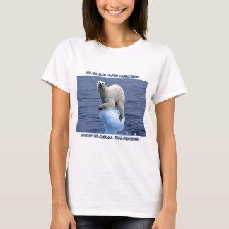 cool POLAR BEAR AND GLOBAL WARMING designs T-Shirt