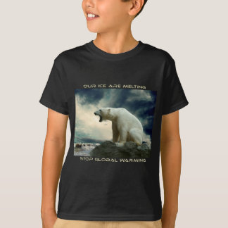cool POLAR BEAR AND GLOBAL WARMING designs T-Shirt