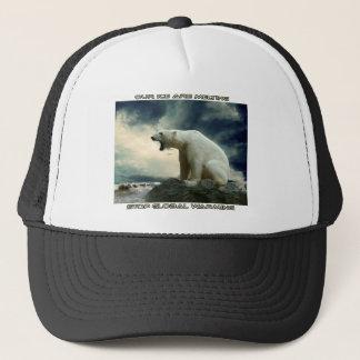 cool POLAR BEAR AND GLOBAL WARMING designs Trucker Hat