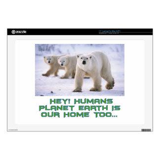 "cool Polar Bear designs 17"" Laptop Decal"