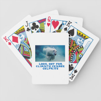 cool Polar Bear designs Bicycle Playing Cards