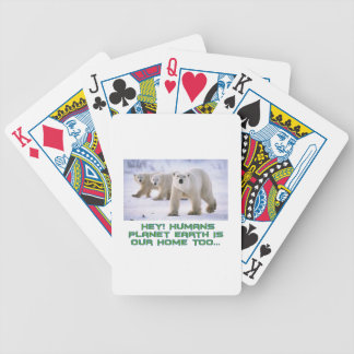 cool Polar Bear designs Bicycle Playing Cards