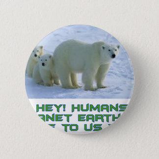 cool polar bear designs button