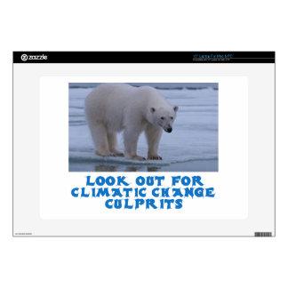 "cool Polar bear designs Decal For 15"" Laptop"