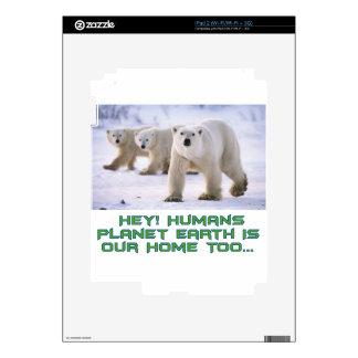 cool Polar Bear designs Decal For iPad 2