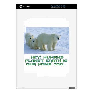 cool polar bear designs decals for iPad 2