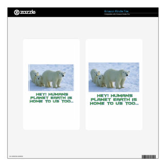cool polar bear designs decals for kindle fire