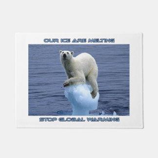 cool polar bear designs doormat