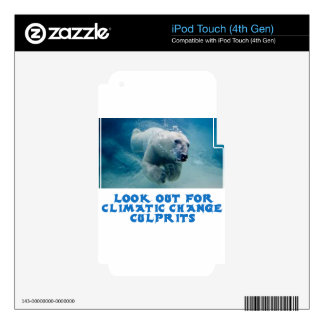 cool Polar Bear designs iPod Touch 4G Decals
