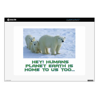 cool polar bear designs laptop decal