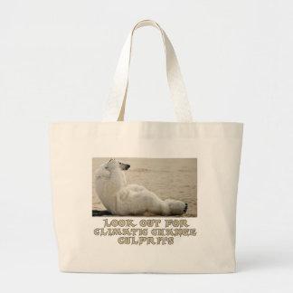 cool Polar Bear designs Large Tote Bag
