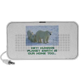 cool polar bear designs mini speaker