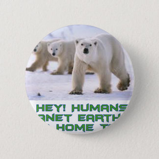 cool Polar Bear designs Pinback Button