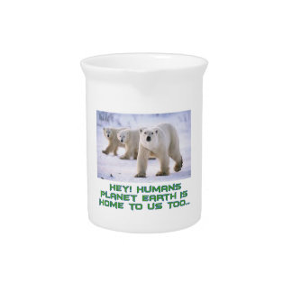 cool Polar Bear designs Beverage Pitchers