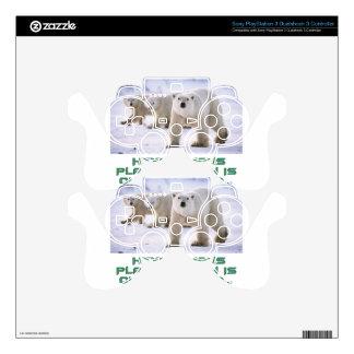 cool Polar Bear designs PS3 Controller Skin