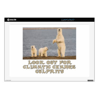 "cool Polar bear designs Skin For 17"" Laptop"