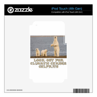 cool Polar bear designs Skin For iPod Touch 4G