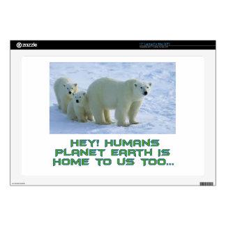 cool polar bear designs skin for laptop