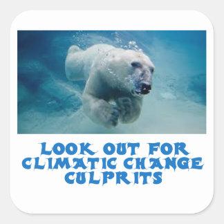 cool Polar Bear designs Square Sticker