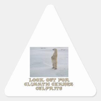 cool Polar bear designs Triangle Sticker