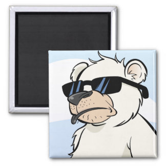 Cool polar Bear with Sunglasses Magnet